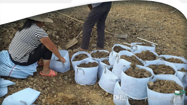 2017 심기 가방 라운드 패브릭 냄비 식물 파우치 뿌리 컨테이너 재배 가방 폭기 냄비 컨테이너 새로운 이탄 냄비 통기성 가방 식물 HY1604