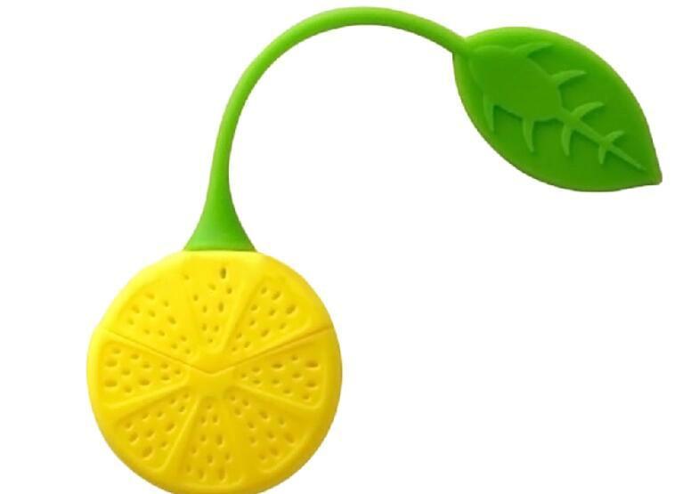 10 قطع الساخن بيع الليمون نمط سيليكون مصفاة الشاي العشبية سبايس التحلل تصفية الناشر اكسسوارات المطبخ
