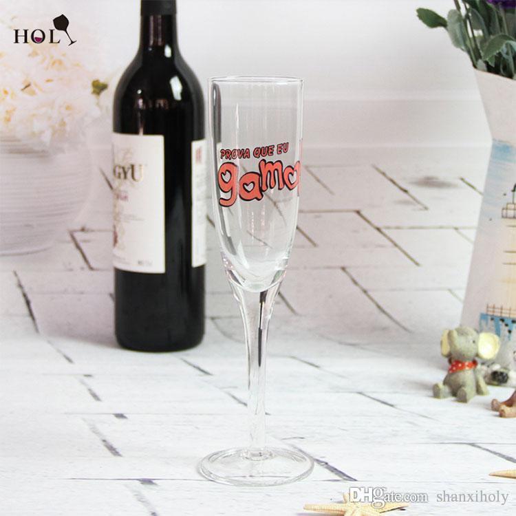 carta a mano alzada Champagne glass logo personalizado champán flauta