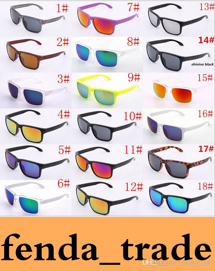 BEST Hot Sale brand Logo NOT Polarized UV400 Sunglasses Men Women Sport Cycling Glasses Eyewear Goggles Eyewear 18 colors options