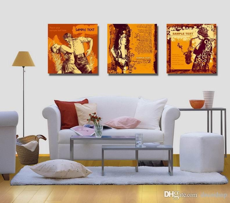 현대 아름 다운 추상 회화 Giclee 인쇄 캔버스 벽 아트 홈 장식 Set30422