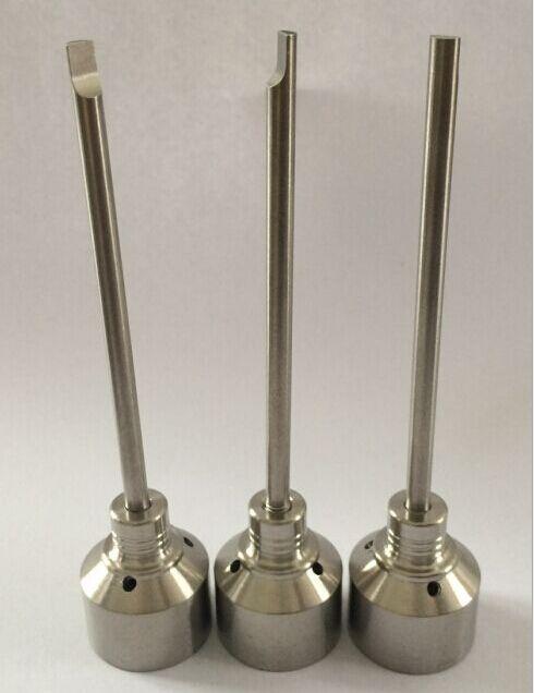 Ongles en titane Domeless GR2 Titanium Nail Carb Bouchon 14mm / 18mm pour tuyau d'eau En verre Bong Smoking Pipe Titanium Nails