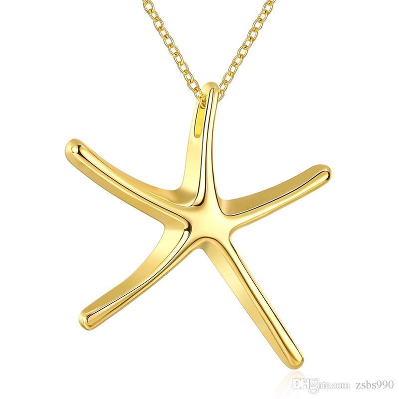 Regalo di natale del natale del pendente della collana della stella marina della stella marina della stella marina della stella marina della stella marina di progettazione del disegno di progettazione del disegno per la donna superiore della donna