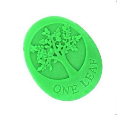 Frete Grátis-New Arrivals Alta Qualidade Quatro Cavidade Árvore da Vida Um sabão Folha De Silicone Oval molde