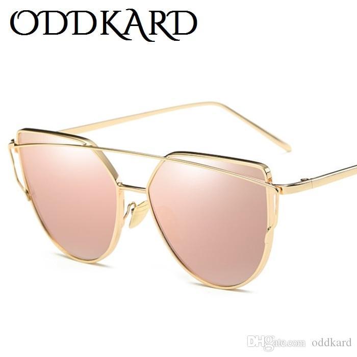 ODDKARD نظارات شمسية عصرية للرجال والنساء العلامة التجارية مصمم القط العين النظارات oculos دي سول UV400