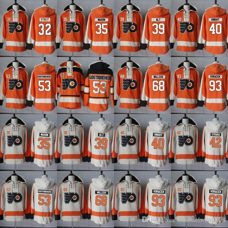 Philadelphia Flyers Kapuzenpullover 32 Mark Streit 35 Steve Mason 39 Mark Alt 40 Corban Ritter Hockey Jersey Hoodies Sweatshirts
