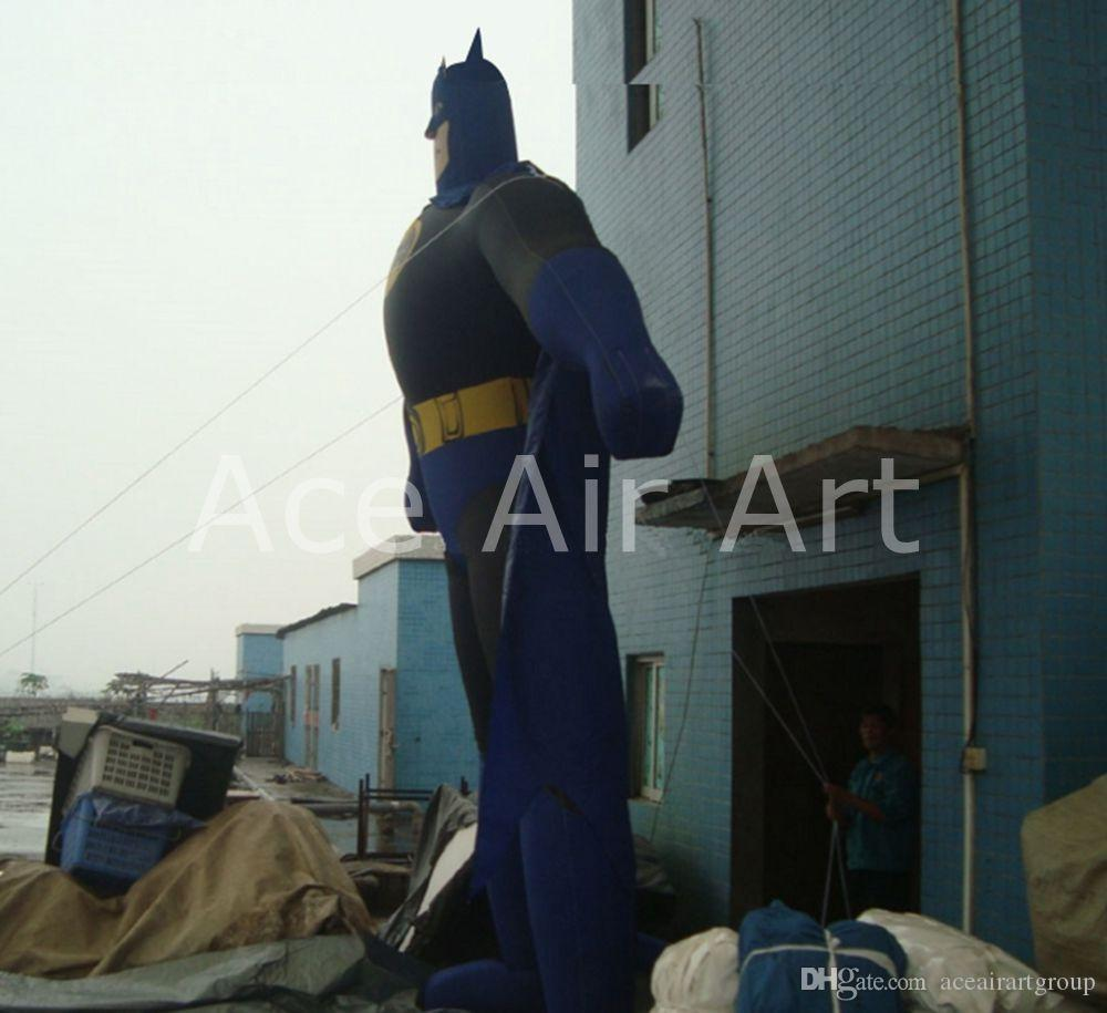 2021 Black And Blue Standing Great Vigor Inflatable Batman Inflatable Character Cartoon For Business With Free Air Blower From Aceairartgroup 853 67 Dhgate Com