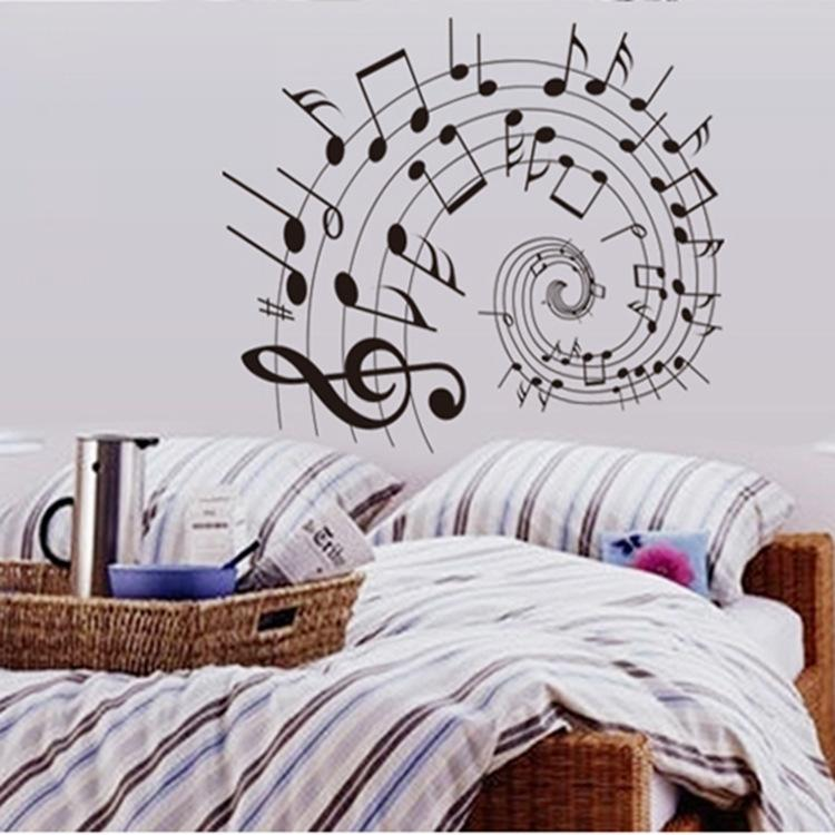 five line notes wall stickers creative music school classroom