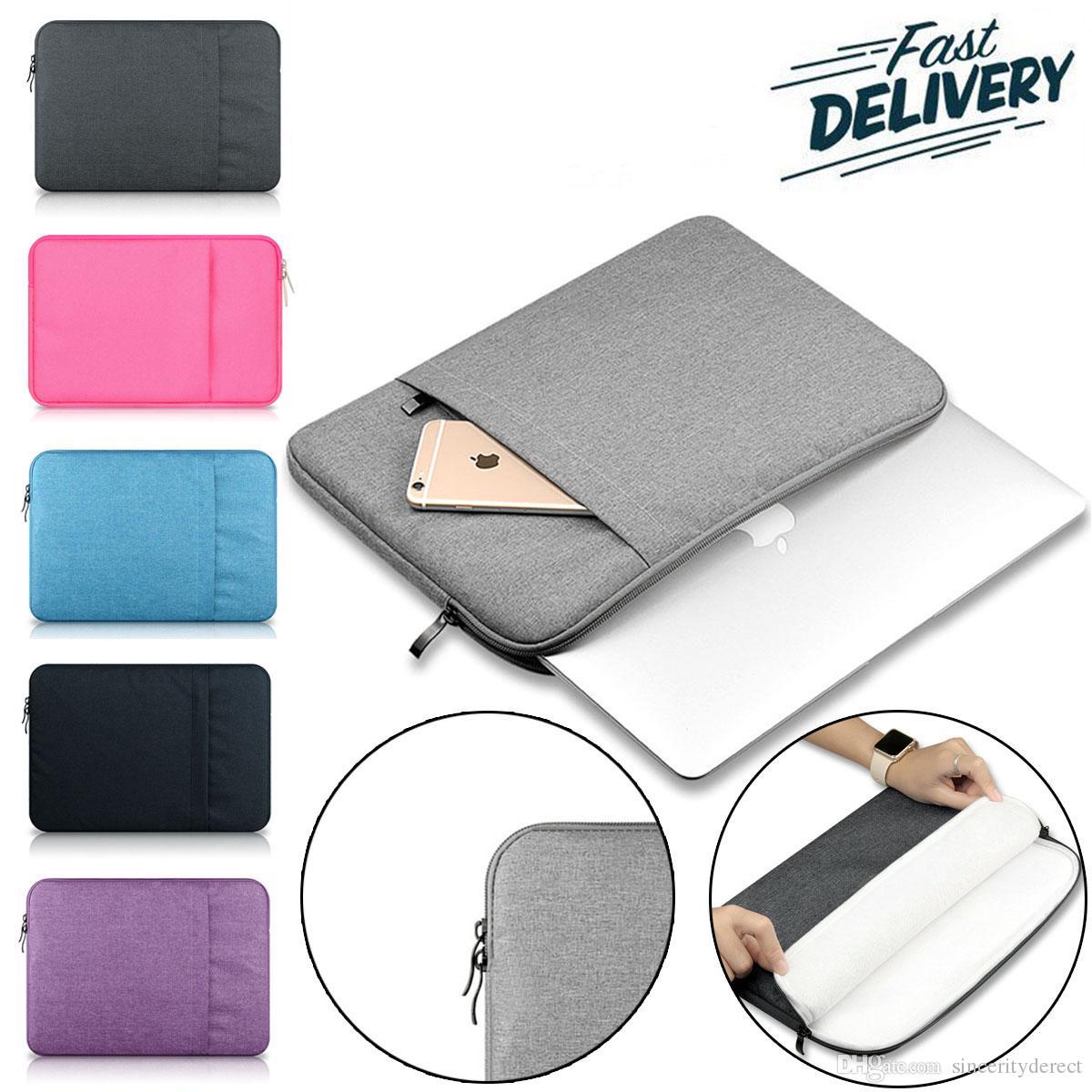 Laptop Sleeve Drop-prova de poeira para 13-15 polegadas Notebook Bag Para iPad Pro Apple ASUS Lenovo Dell, portátil 360 ° de proteção Bolsa de Transporte Bag