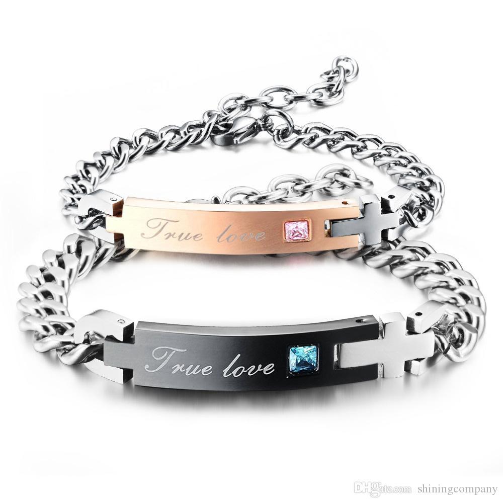 Partner Armband Edelstahl Frauen Männer Kreuz Armband Silber Herren Damen Liebe