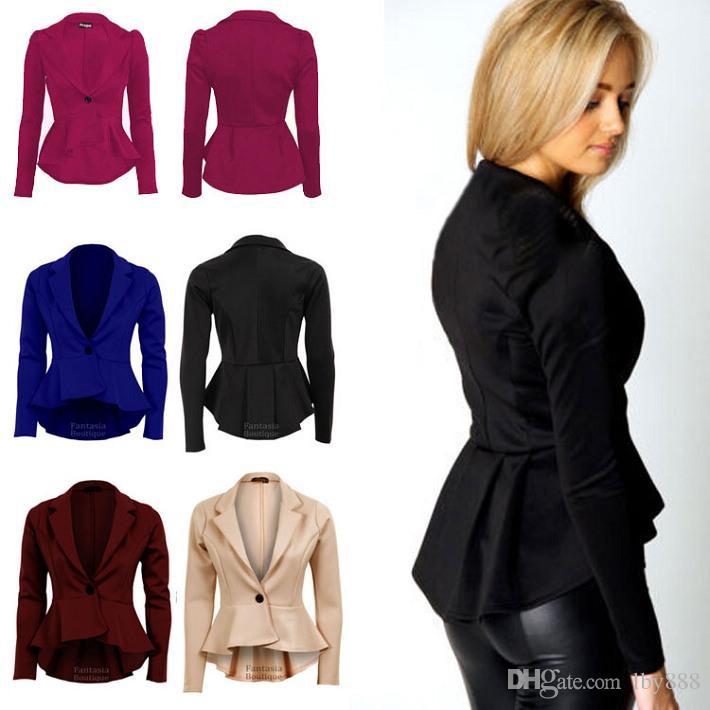 Womens Panelled Frill Front Blazer Cardigan UK Size 8-12