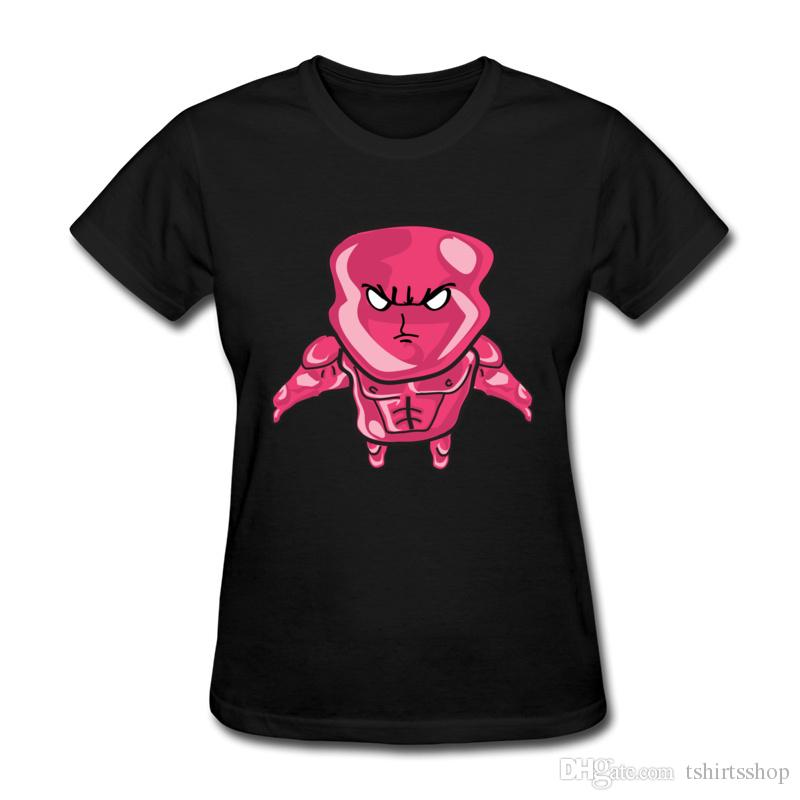 Yeni Varış kadın T-Shirt Kırmızı Kızgın Karikatür Nakış Gömlek Casual Formu Yüzde 100 Saf Pamuk Üstleri T-Shirt