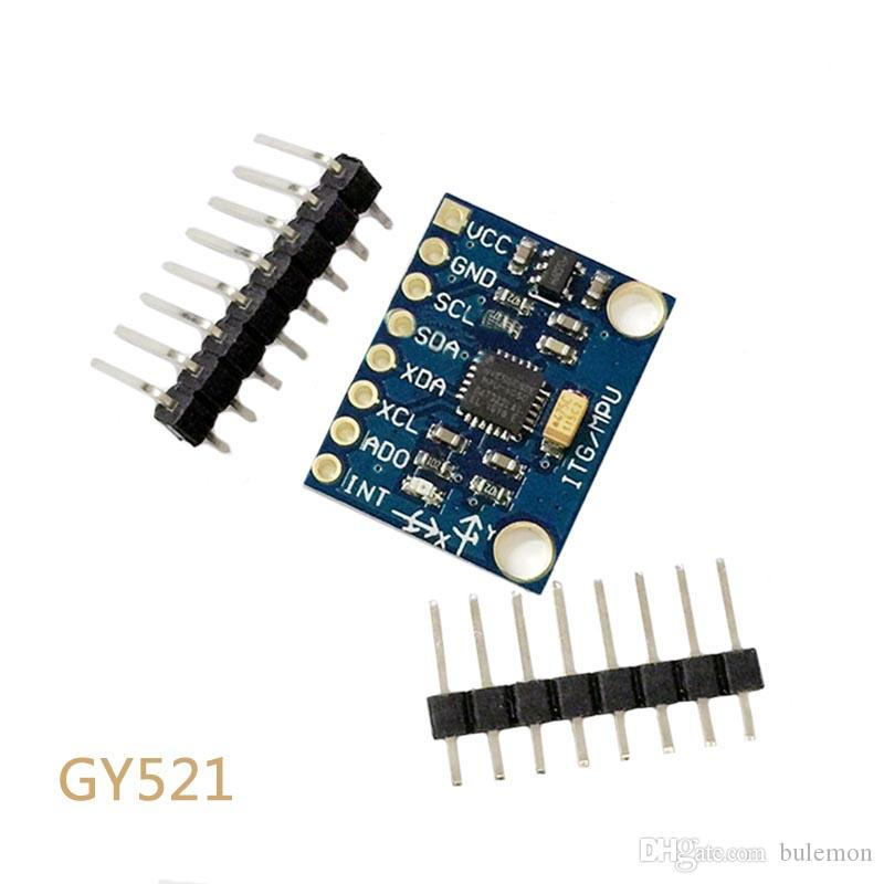 2pcs/lot GY-521 MPU-6050 MPU6050 3 Axis Analog Gyroscope Sensors + 3 Axis Accelerometer Module For Arduino With Pins 3-5V DC