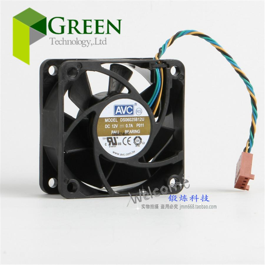 The Original AVC DS06025B12U 12V 0.7A 6025 60MM 60*60*25MM CPU fan computer case Cooling fan with 4pin PWM