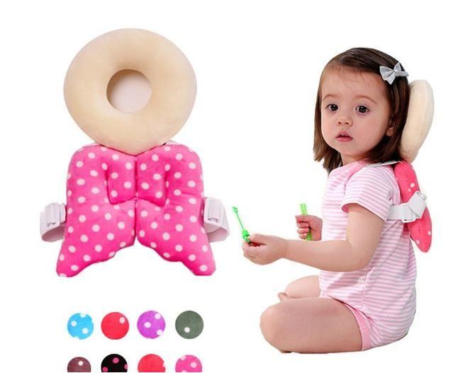 2pcs Safe Toddler Baby Head Back Neck Protection Cushion Headrest Walk Pad