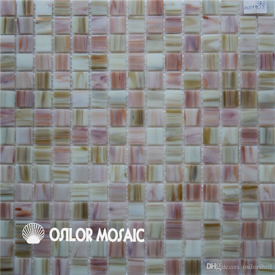 Acheter Mosaique De Verre De Couleur Mixte Pour Salle De Bain Et