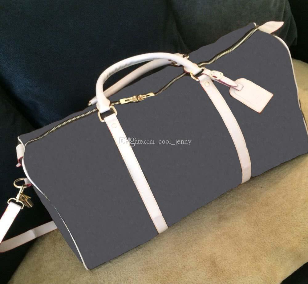 HOLDALL Bolsas grandes para las mujeres bolsas de calidad famosas en el diseñador Hombres clásicos de alto clásico Hombro Fin de semana Duffel Equipaje Viaje caliente Capacidad de transporte S NTIX