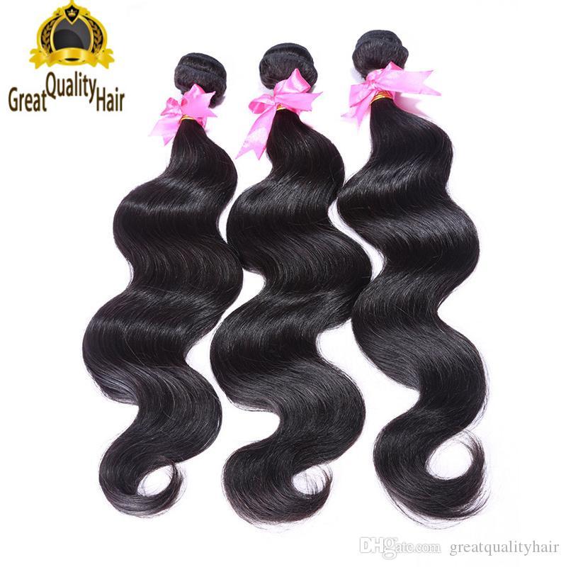 Spedizione gratuita!! All'ingrosso non trasformato 100 estensioni dei capelli umani per capelli malesi peruviani peruviani per capelli a onda del corpo weaves