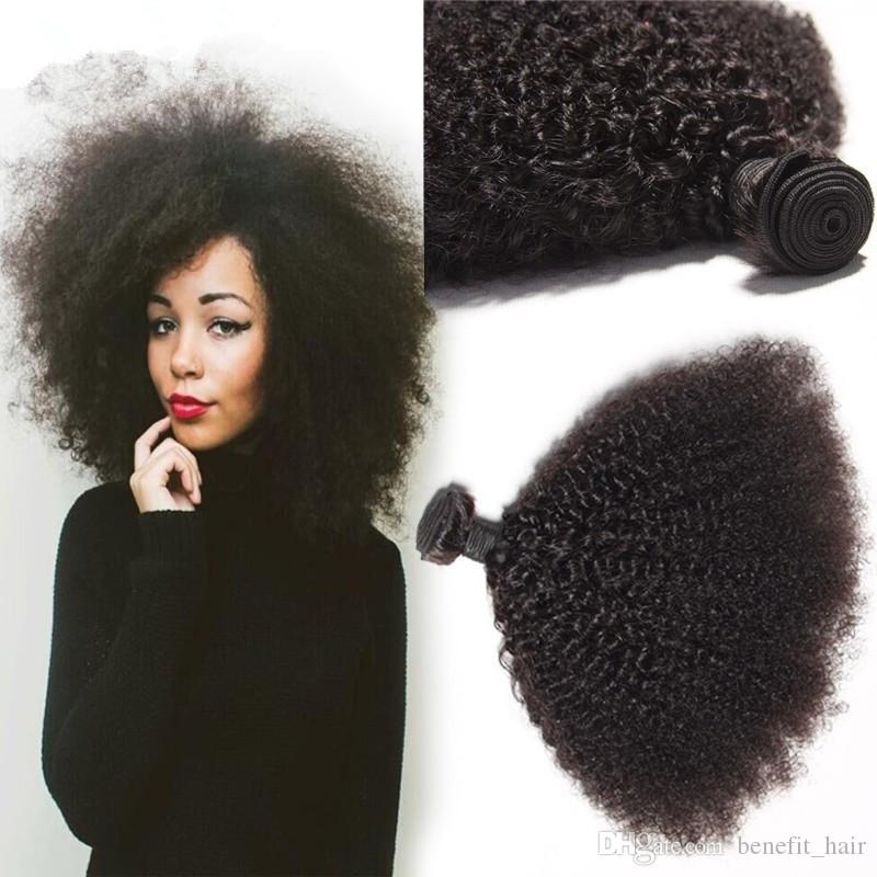8A Unprocessed Malaysian Kinky Curly Hair 3 Bundles/Lot Human Hair Weave Afro Kinky Curly Hair Weft For Woman Free Shipping