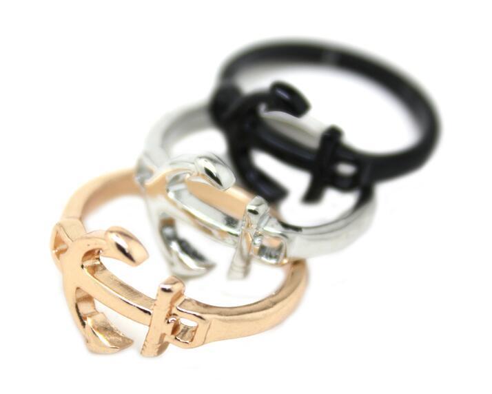 Accessori moda oro argento placcato pistola nera ancoraggio dito punk piccolo anello mini midi per il regalo degli uomini delle donne