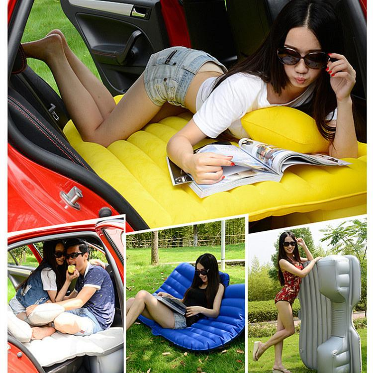12V 펌프 + 풍선 매트리스 자동차 백 좌석 커버 에어 매트리스 여행 침대 휴대용 휴가 풍선 캠핑 패드 자동차 섹스 침대