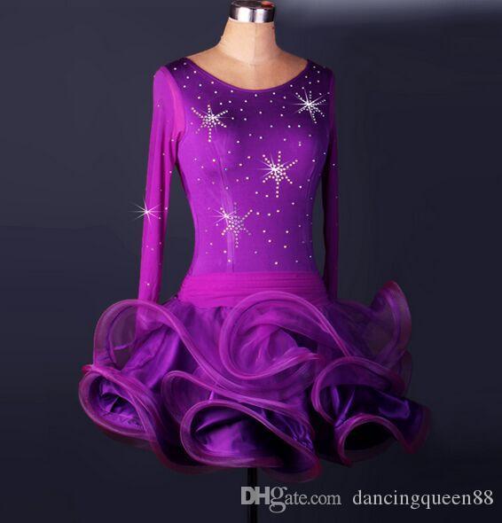 Custom Madel Latin Dance Dress Paillettes Donna Lady Abbigliamento Per la danza Costumi teatrali Ballroom Tassel Dress Dancing per le donne Dancewear