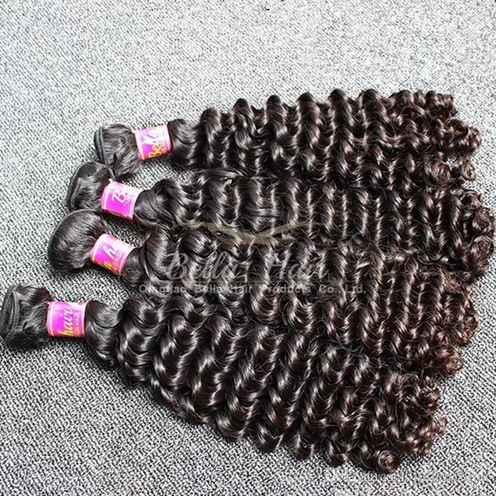 Brand Original Hair! 2pcs / parti 9a 10-24INCH Obehandlad djupvåg Malaysisk Original Human Hair Extension Gratis frakt
