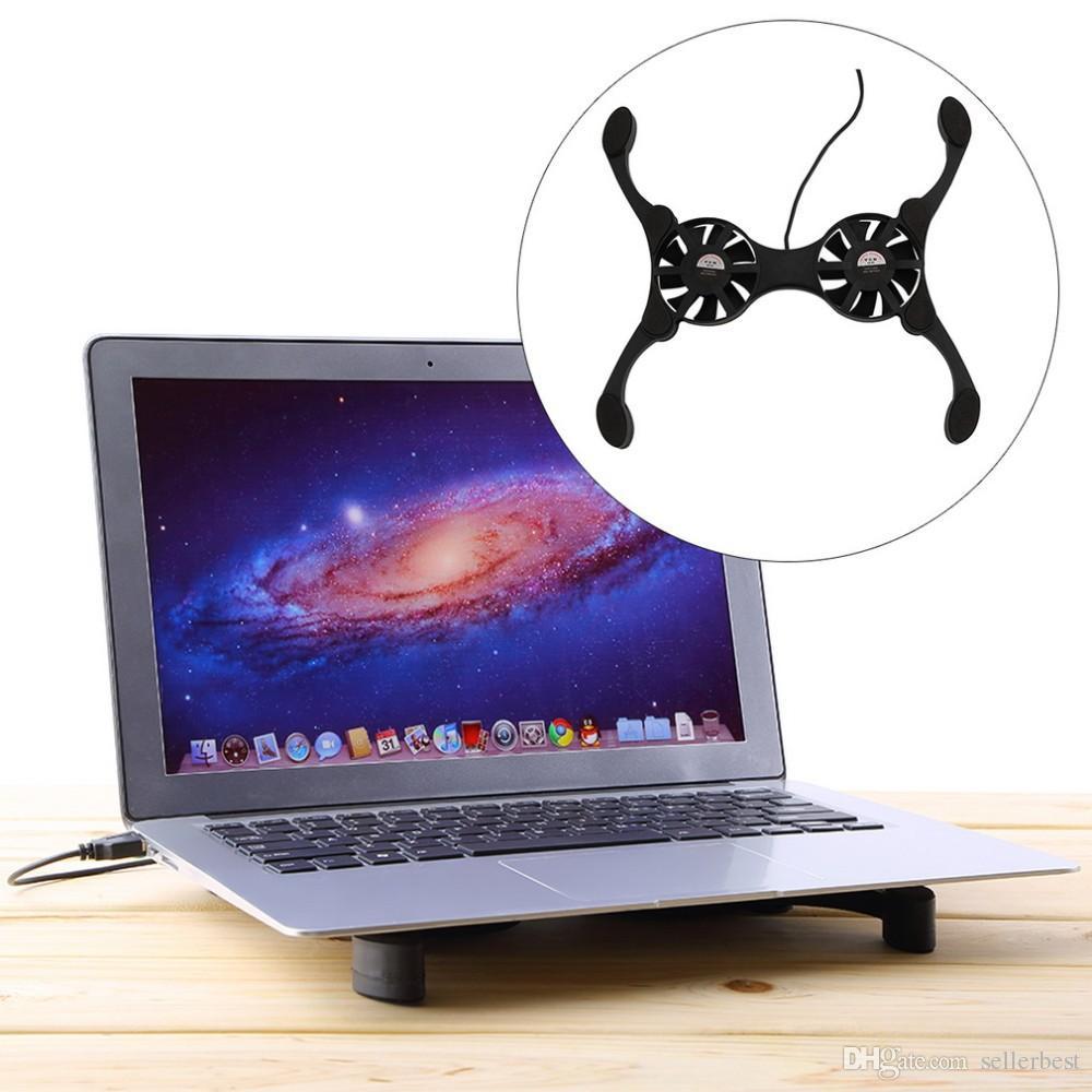 USB Mini Octopus Laptop Notebook Lüfter Kühler Pad Folding Coller Fan Mit Kleinkasten Freies Verschiffen