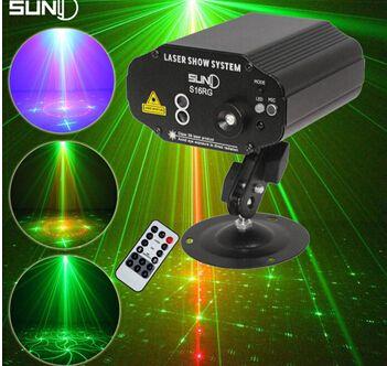 Suny Remoto 16 Padrões Estágio Verde Vermelho Laser Projector Light Lighting Efeito DJ Disco KTV Festa Casa Azul Luzes Led