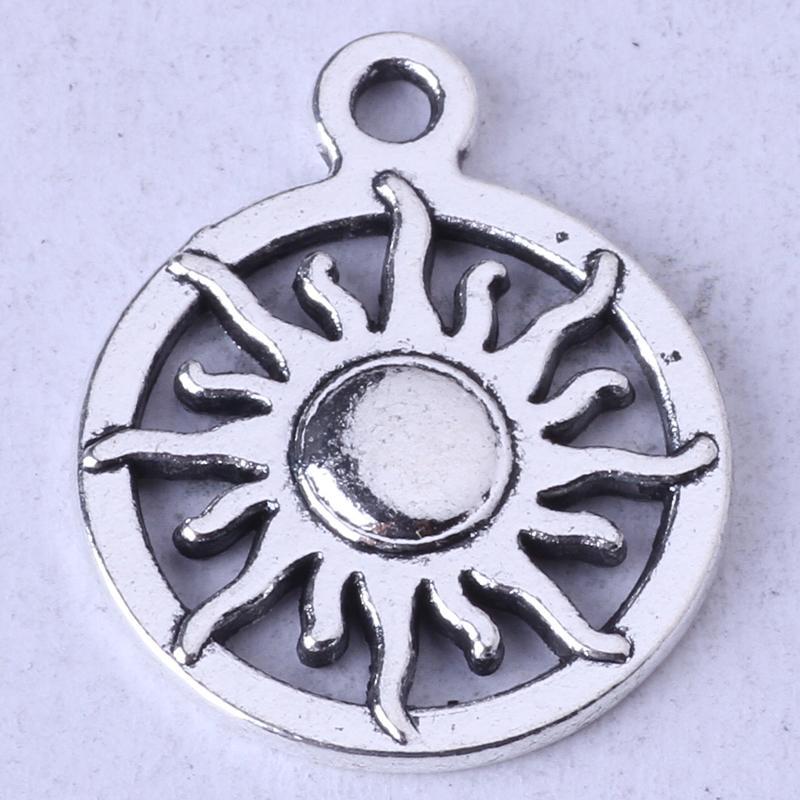 SUN ring Pendant antique Silver/bronze pendant fit Necklace DIY Jewelry Zinc alloy 300pcs/lot 60z