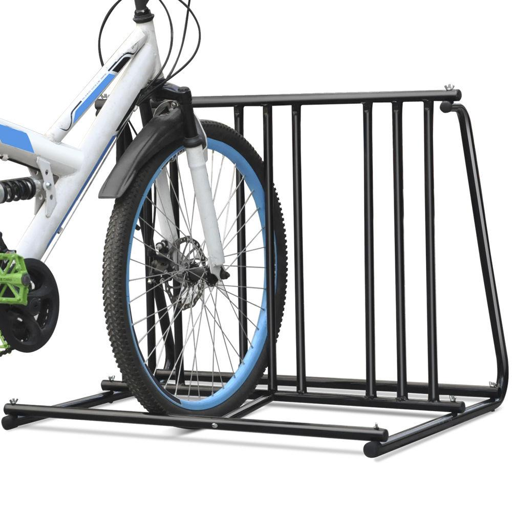 2020 Steel 1 6 Bikes Floor Mount Bicycle Park Storage Parking
