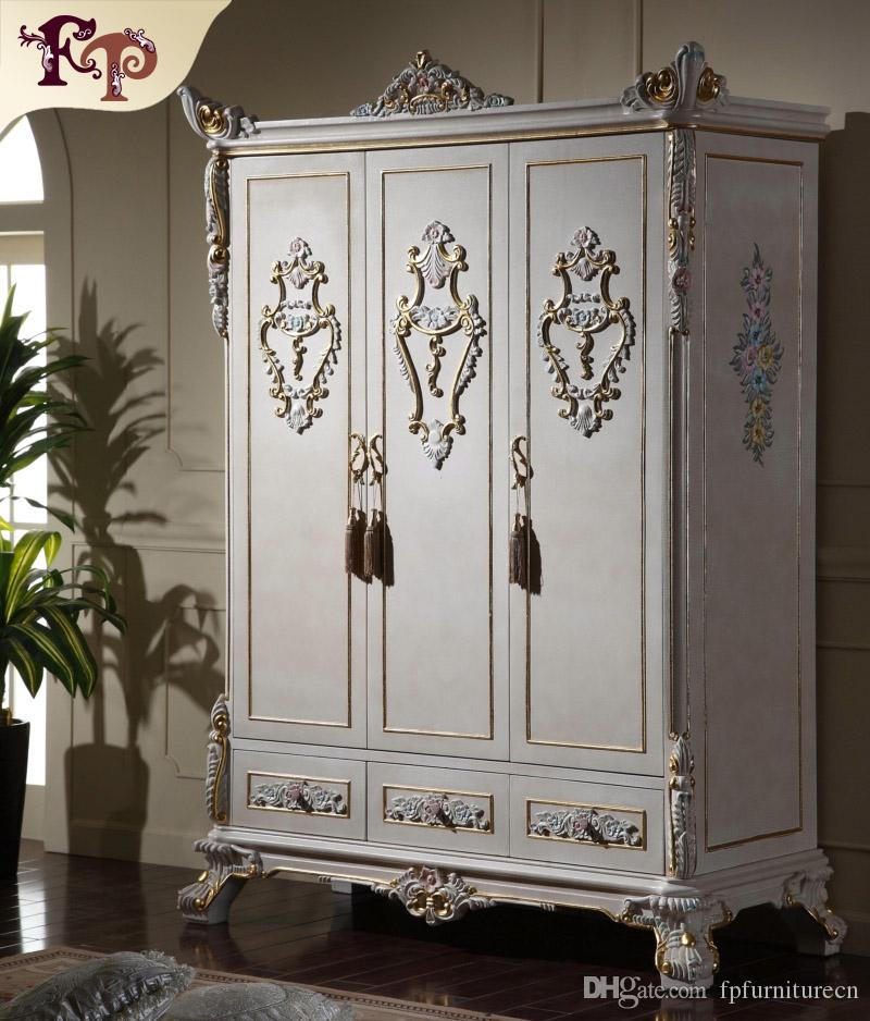 2019 Antique Classic Furniture Baroque Wardrobe Italian Bedroom Furniture  Luxury Hand Carved 3 Doors Wardrboe From Fpfurniturecn, $2781.41   ...