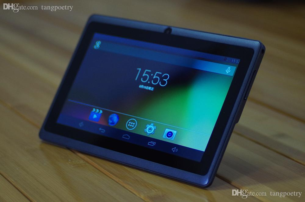 7inch A33 Quad Core Q88 Tablet Allwinner Android 4.4 1.5GHz DDR3 512MB RAM 4GB ROM Dual Camera amera 512MB 4GB 8GB 5 colors A2