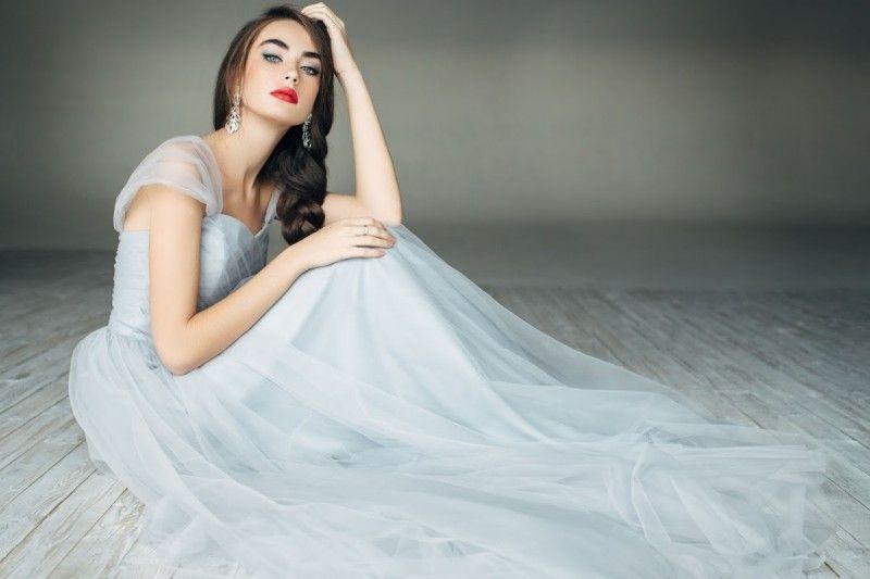 Discount Simple Princess White Wedding Dresses Off The Shoulder A ...