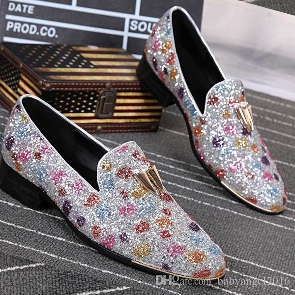 Luxus Herren Business Leisure Dress Schuhe British Designer Slip On Lederschuhe für Männer Loafer Schuhe Round Toe 38-46