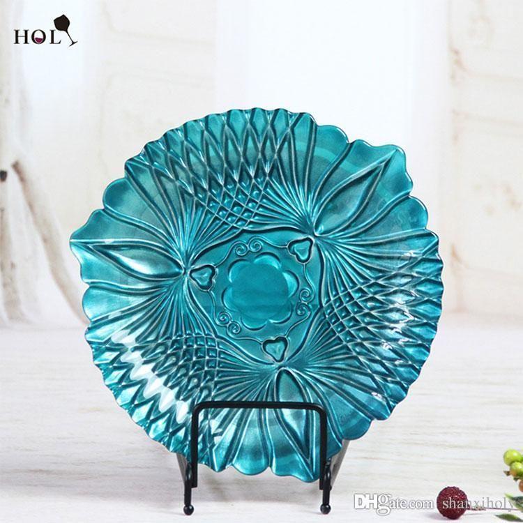 Großhandel Günstige China Hochzeit und Hotel Dekoration Glas Ladegerät Teller Geschirr