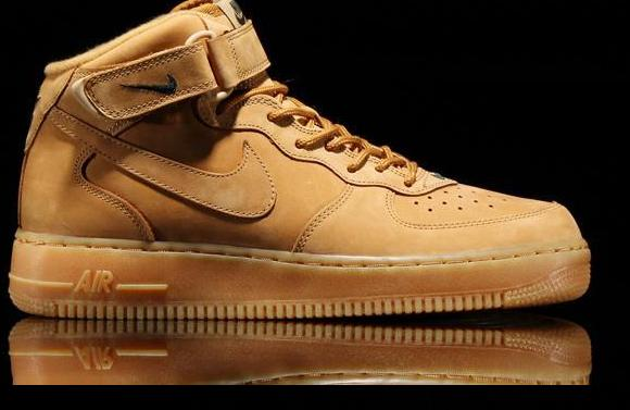 Nike Air Force 1 Mid 07 PRM QS FLAX 715889 200 Wheat Men Women Sneakers Shoes Original Quality Classic AF1 Basketball Shoes Sizes 36 46 Shoes Sale