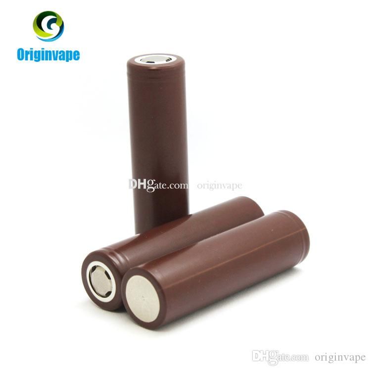 100% Authentic 18650 Battery HG2 3000mAh 35A MAX Lithium Rechargeable Batteries Using LG Battery Cell For VW Box Mod Fedex Free Shipping