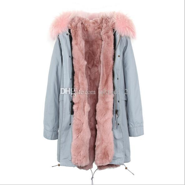 2019 Jazzevar 100% Real Rabbit Fur Women Snow Jackets Brown Grass Rabbit Fur Lining Long Khaki Parka Germany Norway From Qltrade_2, $301.51 |