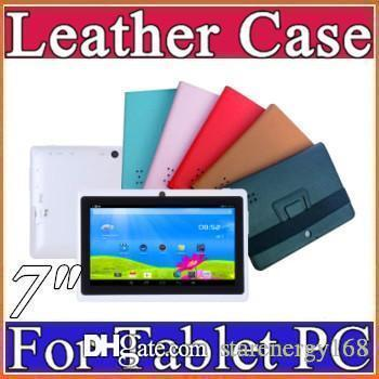 """colorful 7"""" flip leather case for Q88 Allwinner A13 Q88 A23 A33 tablet pc protect skin F-PT"""