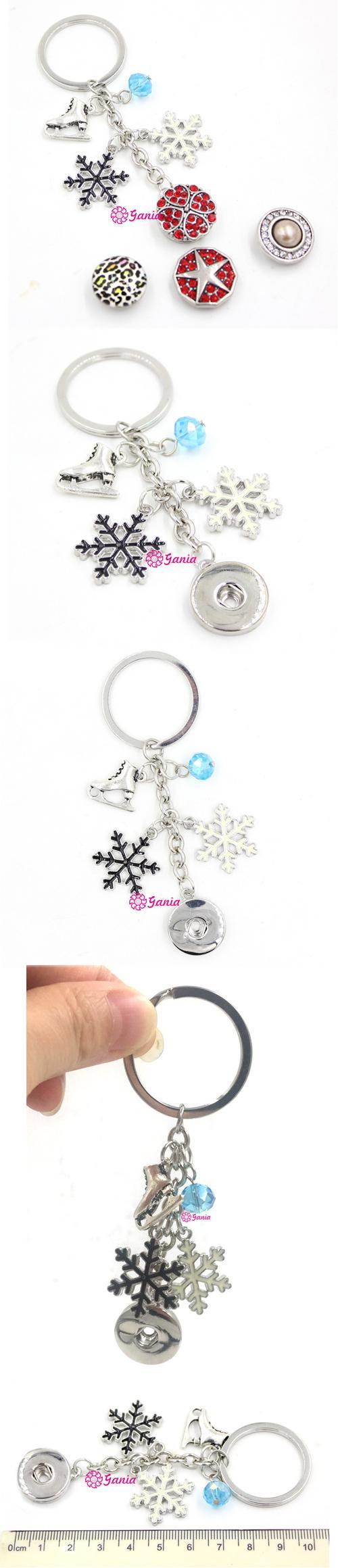 flocon de neige Patin à glace Keychain Porte-clés patin à glace charme Porte-clés hiver Bijoux