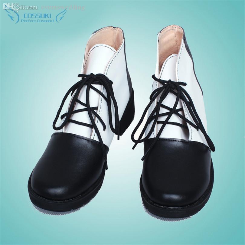 Großhandels-Black Butler Ciel Phantomhive Cosplay Schuhe Stiefel Professional Handmade! Perfekte Custom für Sie!