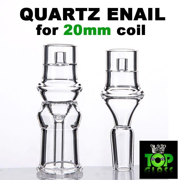 Elektrischer Domeless Quartz Enail mit klarer polierter männlicher weiblicher Verbindung 4 Größe für 20mm Heizspule, sehr stabiler Hals
