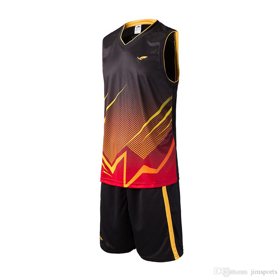 6b910592a9d TOP Custom Basketball Jerseys Men Blank College Basketball Uniforms Cheap  Breathable Dry Quick Basketball Set Suits 2017 new
