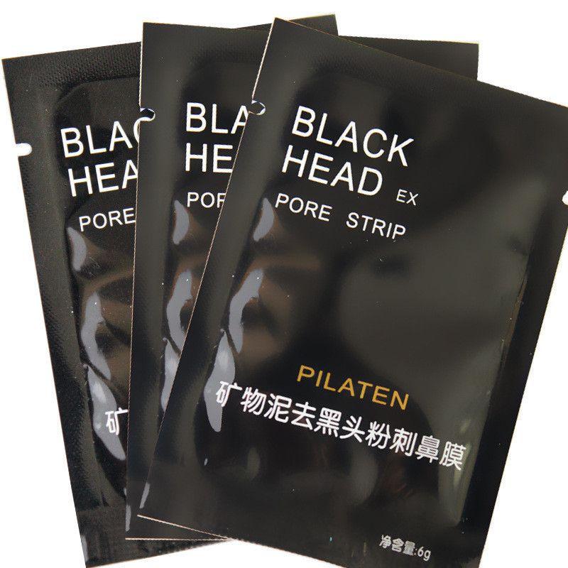 PILATEN Burun siyah nokta Remover Yüz Mineraller Conk Yüz Maskesi Burun siyah nokta Cleaner Maske 6g / pcsacial Siyah Kafa Kaldır Maskesi