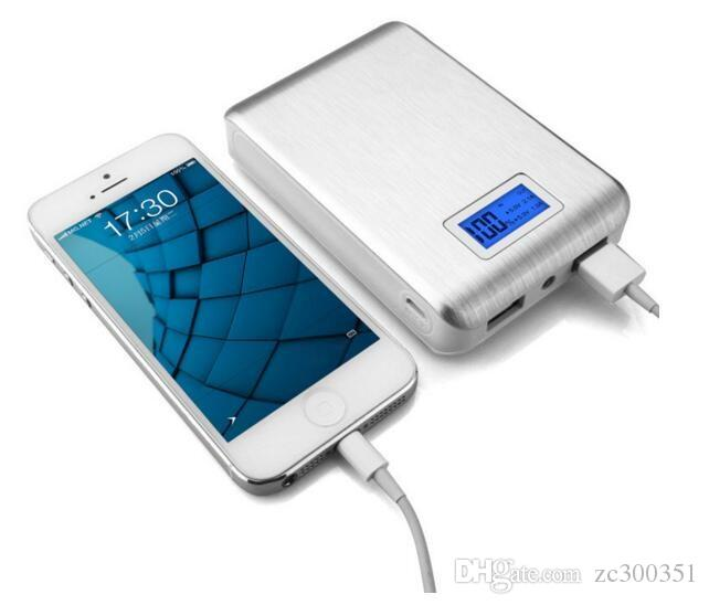 Neue tragbare doppelte USB-Power Bank 12000mAh LCD-Anzeige externer Backup-Batterie für iPhone Huawei Xiaomi Mobiltelefon Universal-Ladegerät