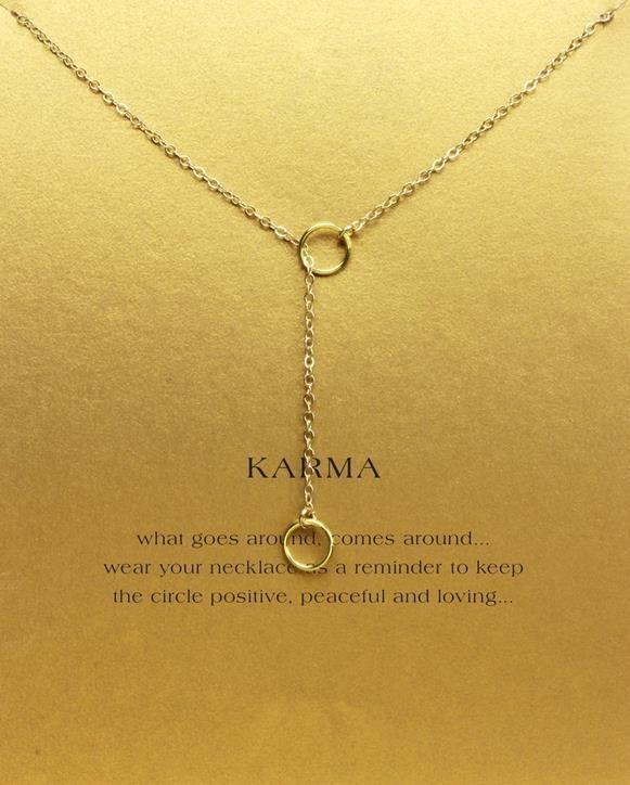 Com cartão! Lindo Colar Dogeared com 2 círculos (karma), nobre e delicado, sem desbotar, frete grátis e alta qualidade.