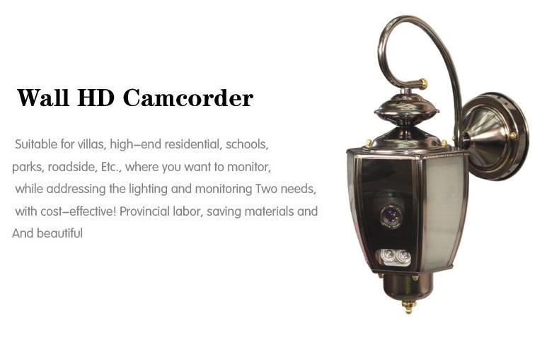 Outdoor 12W Led garden lighting HD 960P 1.3 wireless wifi hidden ...