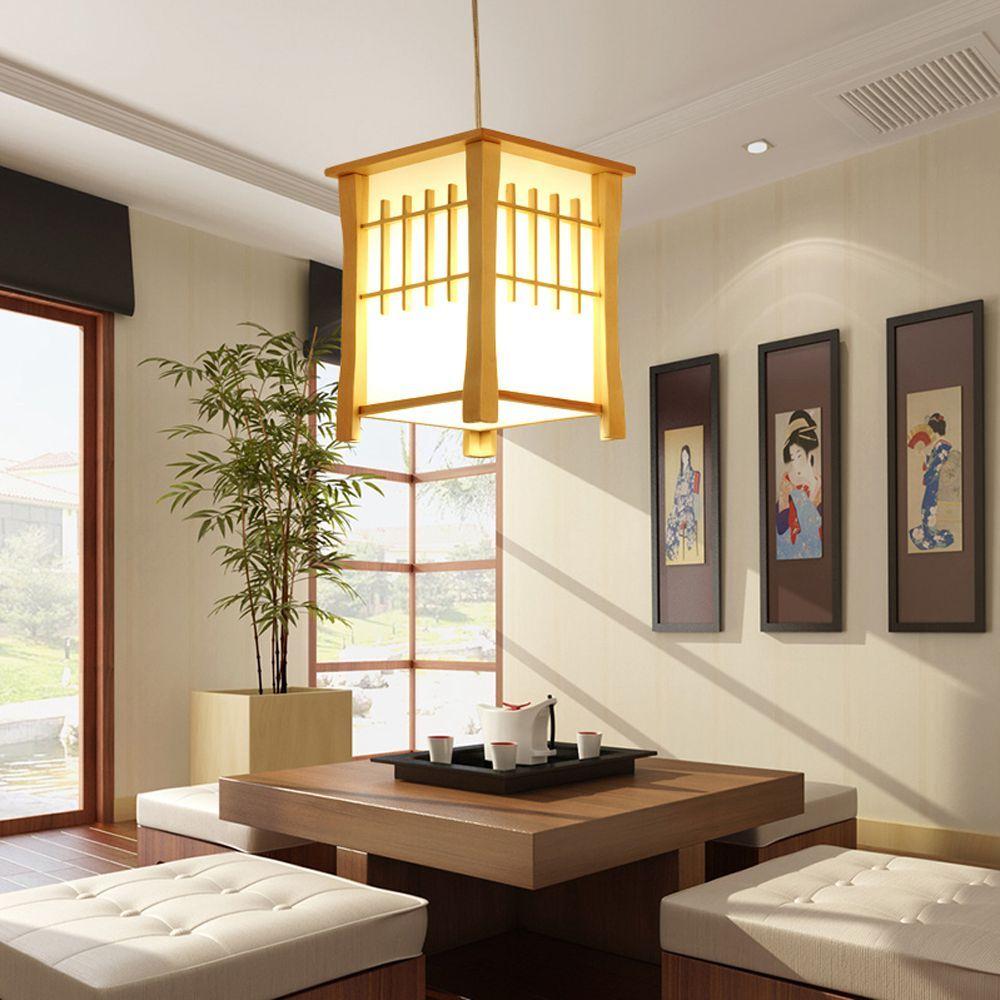 Table À Manger Japonaise acheter oovov classique en bois balcon pendant lampes style japonais salle  À manger pendentif lumière hall couloir corridor pendant lampe de 70,16 €