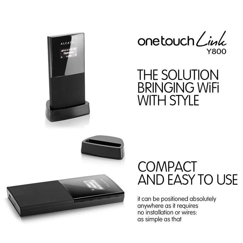 Alcatel One Touch Link Y800Z Mobiler LTE 4G black WiFi Hotspot
